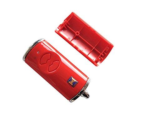 Hörmann Handsender Cover HSE2BS Rot Leer Gehäuse ohne Batterie ohne Platine Ersatzteil Ober- und Unterschale