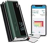 Macchine per la pressione sanguigna del braccio superiore Armfit, macchine digitali automatiche per la pressione sanguigna con Bluetooth e braccialetto grande con APP e funzione di massaggio