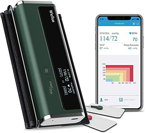 Achsel-Oberarm-Blutdruckmessgeräte, Digitale Automatische Blutdruckmessgeräte Mit Bluetooth und Großer Manschette, Kabellose Tragbare Manschette Mit APP und Massagefunktion Blutdruckmessgeräte