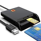 Lector de Tarjetas con Chip,2 en 1 DOD Military USB Common Access CAC Card,ID Card,IC Card,Bank Card,SIM Card Reader Compatible con Windows, Linux, Mac OS Lector de Tarjetas Inteligentes multifunción