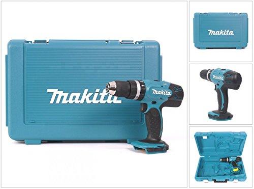 Makita DHP 453 ZK 18 V Li-ion trapano avvitatore a percussione a batteria con valigetta in plastica