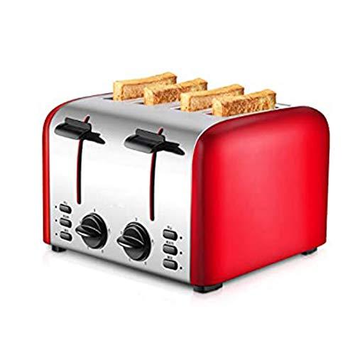 ZHOUHUAW Tostadora 4 Piezas Comercial Completamente Automática, Puede Funcionar Solo para Tostadora De Desayuno Casera