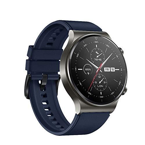 TurnTurn Pulsera compatible con Huawei Watch GT2 Pro/Huawei Watch GT/GT2 46 mm/GT 2E, pulsera de silicona deportiva, resistente al agua, correa de repuesto para hombre