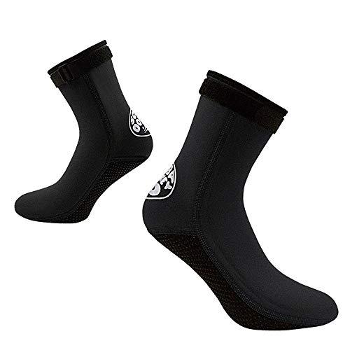 MDYYD Diving Socks Neoprene Socks 3mm Beach Volleyball Sand Soccer Socks Water Booties Wet Shoes for Diving Swimming Non-Slip Flexible Diving Socks (Color : Black, Size : XL(44-45))