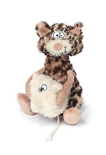sigikid, Kuscheltier für Erwachsene und Kinder, Katze und Maus, Always in Your Arms!, Sweet Beasts, Bunt, 21 x 9 x 8 cm