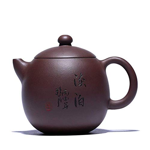 ADSE Teapots Tea Cup Purple Clay Pot in One Hand Sketch Dragon Egg Pot Tea Maker Sand Pot (Color : Purple)