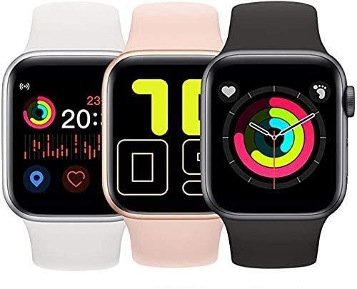 Smartwatch, Touch-Farbdisplay Fitness Armbanduhr mit Pulsuhr Fitness Tracker IP68 Wasserdicht Sportuhr Smart Watch mit Schrittzähler,Schlafmonitor,Stoppuhr für Damen Herren iOS Android (weiß)
