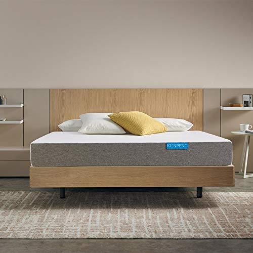 Queen Bed Mattress, KUNPENG 10 Inch Gel Memory Foam Mattress in a Box Medium Firm Feel Mattress for Cool Sleep & Relieve Stress, CertiPUR-US