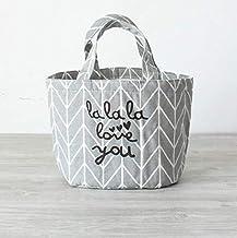 Fashion and High Quality Insulation Round Cartoon Storage Bag Lunch Box Bag(Gray)
