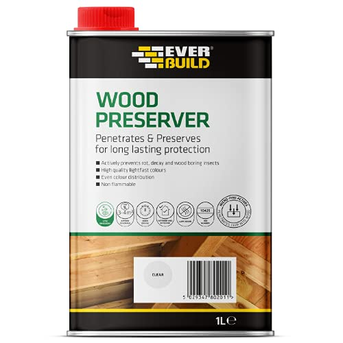 Everbuild Quick Drying, Long Lasting, Wood Preserver, Clear, 1 Litre