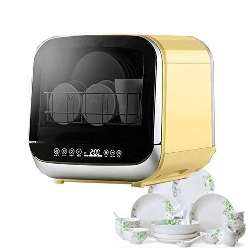 QTCD Mini lavavajillas Mesa portátil con 5 Modos de Limpieza, lavavajillas casa Inteligente con estantes Cubiertos extraíbles, bajo Ruido de Funcionamiento fanghua