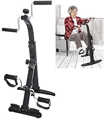 Bicicleta estática Plegable para Brazos y piernas Ejercitador de Pedales portátil Equipo de Gimnasia Entrenador de piernas para Ancianos Tren de extremidades Superiores e Inferiores