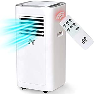 NETTA 8000 BTU Portable Air Conditioner - Timer, Remote Control, LED Touch Control,Cooling Fan, Dehumidifier, Adjustable Temperature, New R290