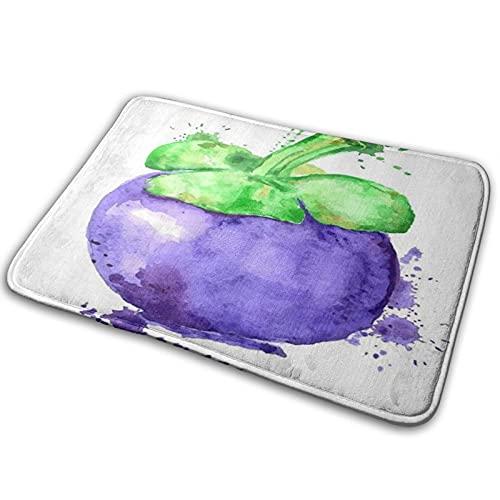 CIKYOWAY Badezimmermatte Fruit Purple Mangosteen Fußmatte Badematte Küchenteppich Rutschfester Teppich