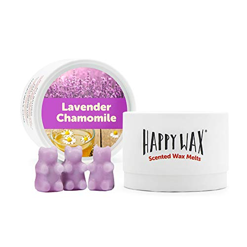 Happy Wax - Lavender Chamomile Soy Wax Melts - Lavender Scented Wax Melts - Cute Bear Shaped Wax Tarts are Perfect for Melting in Your Wax Warmer! (3.6 Oz. Classic Tin)
