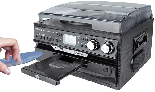 Retro Musikanlage | CD/MP3 | USB/SD | Radio FM/AM | LCD-Display | Nostalgie Design Stereoanlage | Kompaktanlage | Musik Center | Aufnahmefunktion | Plattenspieler | Kassettenspieler |