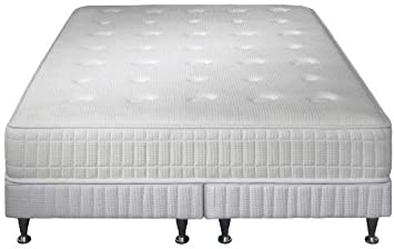 Simmons Montecarlo colchón + somier + pie Blanco, Blanco ...