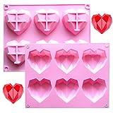 SUNSK Silikonform Backform Herz Kuchenform Muffinform mit 12 Hohlräume Eiswürfel Kuchen Schokolade...