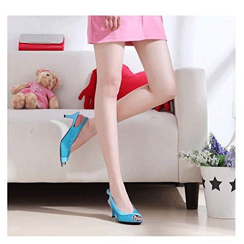 Schoenen Platform Peep Toe Espadrilles Sandalen, Vrouwen Retro Wiggen Gesp Enkel Strappy Dames Zomer Mode Leer Platte Lace Up Casual Comfy 5cm Lichtblauw
