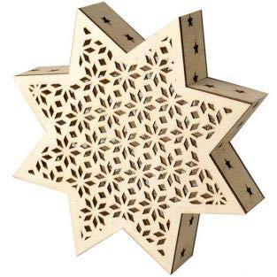 Artemio lamp van hout met leds – kerstster