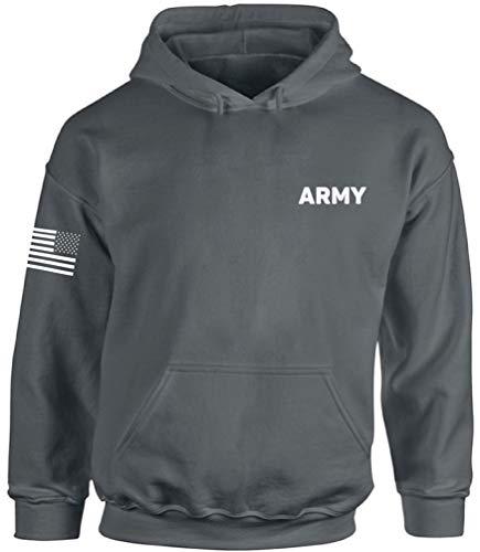 Awkward Styles Army Hooded Sweatshirt Army Military Hoodie with Flag on Sleeve Army 1 2XL
