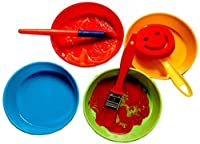 Pittura Spazzole Kit,56 Pezzi Di Pennelli In Spugna E Kit Di Tazze Di Vernice, Set Di Pennelli Per Bambini Con Grembiule, Set Di Pittura Per Bambini Per Apprendimento Precoce Per Bambini E Progetti #3