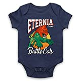 My Icon Art & Clothing He-Man Eternia Battle Cats Sports Team Parody Cartoon TV Babystrampler, Ultramarinblau, 6-12 Monate