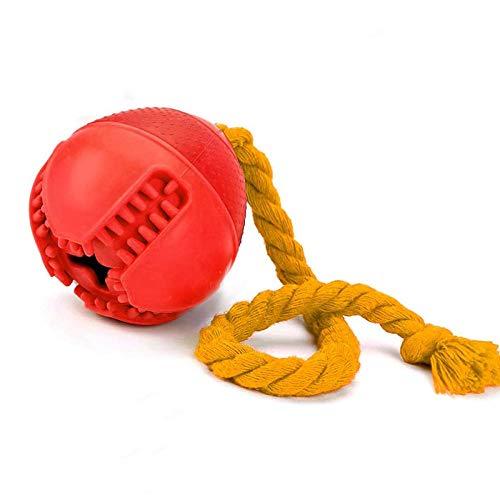 CHCY Hundespielzeug Leistungsstarker interaktiver ungiftiger Gummifutterverteilungsball für Hundeleine Spielzeug für große Hunde und Haustiere, die die Zahnreinigung trainieren Kauspielzeug