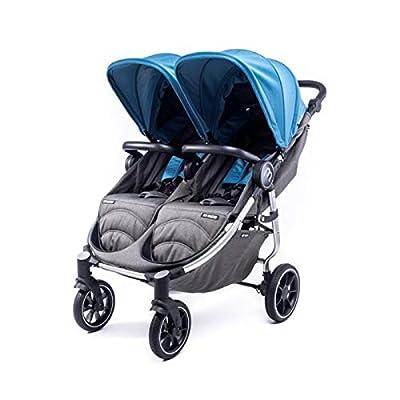 Silla Gemelar Easy Twin 4 Chasis Silver Baby Monsters Plástico de Lluvia y Barras Frontales incluidas Color Atlantic