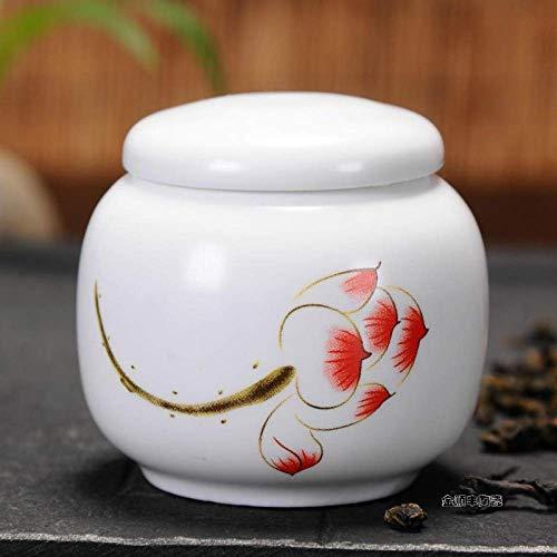 GCZZYMX Liangh funera urnas de cremación adulto Cenizas Urna de cerámica-Adecuado para una pequeña cantidad de cenizas mascotas, 8X8X8Cm, Perfecto recuerdo, H,F