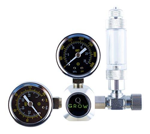 Q-Grow CO2 Réducteur de Pression, Régulateur de Pression pour Aquarium, Aquariophilie avec Compteur de Bulles d'air