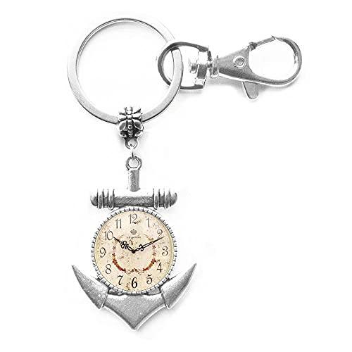 Orologio da sogno fatto a mano e orologio retrò moda rotonda tavolo di vetro ancoraggio portachiavi gioielli anello chiave, PU120