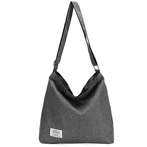 JOSEKO Borsa da viaggio essenziale in tela, borsa a tracolla, borsa per la...