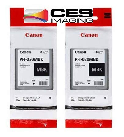 PFI-030MBK Matte Black 2-Pack 55ml Ink Tanks in Retail Package by CES Imaging