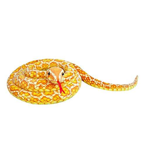 Umbranded Juguete de Peluche Muñeca de Peluche Serpiente Suave 300cm Simulación Cobra Python Almohada de Animal Realista Divertido para niños Niños Niño Regalo