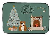 Caroline's Treasures レッドホワイト イングリッシュブルドッグ クリスマス みんなの食器乾燥マット 14 x 21 マルチカラー
