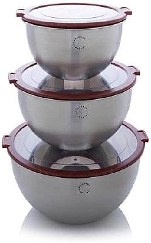 Curtis Stone Mix Store And Look 6 Piece Bowl Set With Clear Lids
