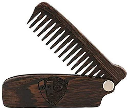 GØLD's Klappkamm Foldable Beard Comb Wengeholz