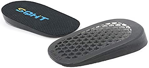 SQHT's Height Increase Insoles - Heel Shoe Lift Inserts for Achilles Tendonitis and Leg Length Discrepancy, Heel Cushion for Men & Women (Large (0.6