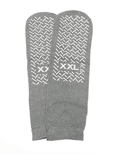 XX-Large Slip Stop Single Tread Slipper Socks (6 Pairs) (Gray)