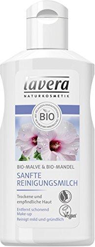 Lavera Sanfte Reinigungsmilch für trockene Haut Mandel Mallow, 4x 125ml