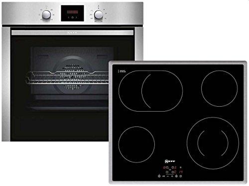 Neff XB46 Backofenset Einbau Ofen BCB1402 + Glaskeramikkochfeld TB1842N Küche