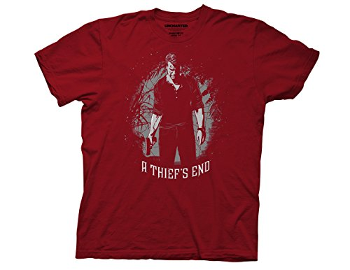 Ripple Junction Uncharted 4 A Thiefs End Adult T-Shirt 3XL Crimson