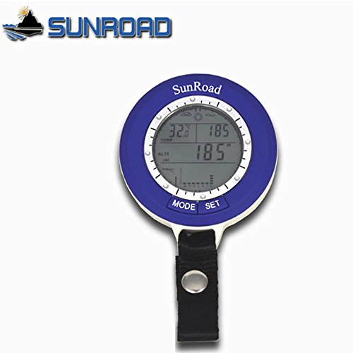 Extaum Sunroad Mini barómetro de Pesca altímetro termómetro de Pesca LCD Digital Impermeable Multifunción