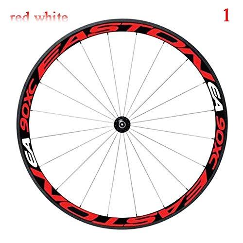 Pegatinas reflectantes multicolor para llantas de bicicleta, pegatinas reflectantes para bicicleta, protector seguro para bicicleta de 26/27.5 pulgadas, accesorios para bicicleta MTB (color 1)