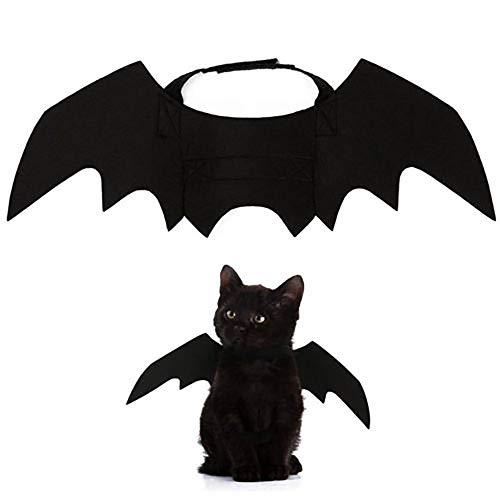 WElinks - Costume per Halloween e animali domestici, divertente, colore nero, per cani, gatto, pipistrello, per cosplay, Halloween e Halloween