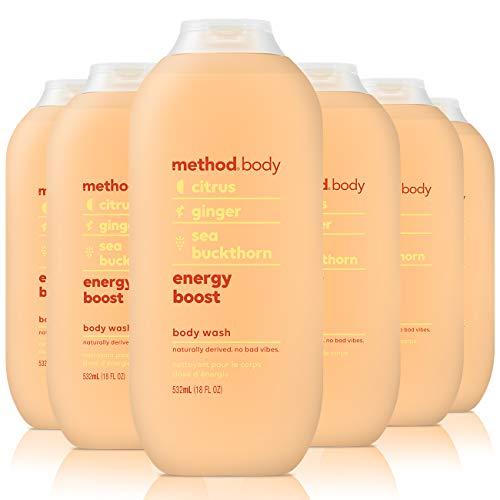 Method Body Wash, Energy Boost, 18 oz, 6 pack, Packaging May Vary