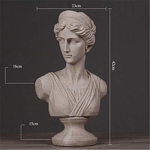 YUQZYT Escultura Abstractaresina Estatuasestatua Decoración Nórdica para El Hogar Resina Arte Y Artesanía