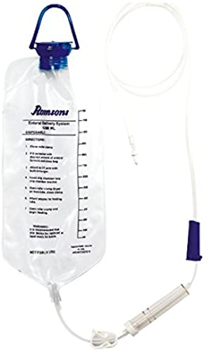 Romsons Eternal Feeding Bag with Ice Pouch and Transfer Set Drip Chamber Flow Controller and Tapered Connector Pack of 5 Pieces