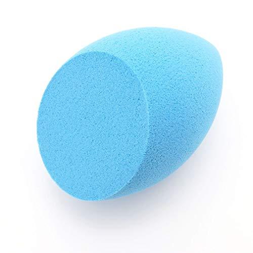 YLWL Grande éponge de Maquillage de Coupe Oblique Puff Foundation Puff Make Up éponge Bleu Clair